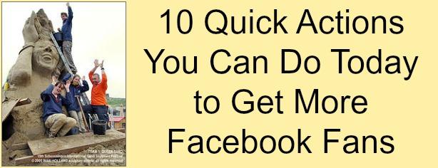 FelicityFields.com - Q & A Thursday - 10 Quick Actions to Get More Facebook Fans - Online Marketing Coach, Facebook, Fans, Marketing, Strategy